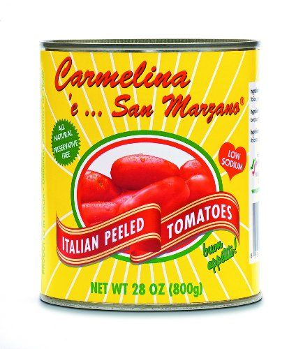 Carmelina 'e San Marzano Italian Peeled Tomatoes in Puree , 28-Ounce Cans (Pack of 12) $35.90