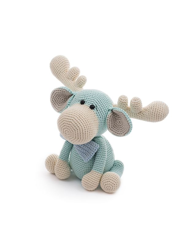 Monty the moose, a design by LittleAquaGirl. This crochet pattern is ...