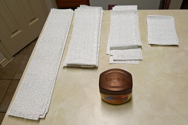 materials for the belly cast by Candace Schwab, via Flickr