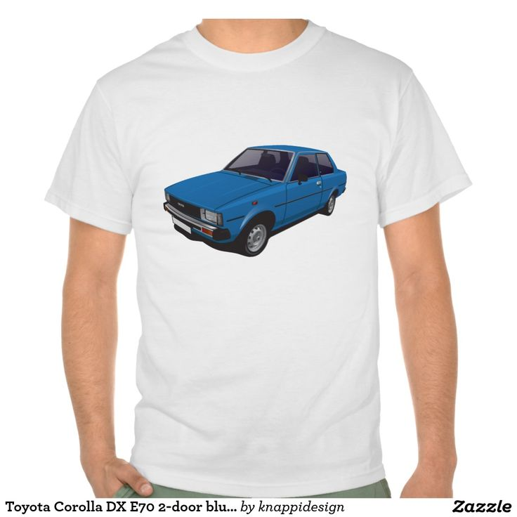 Toyota Corolla DX E70 2-door version blue t-shirt  #toyota #corolla #corolladx #corollaE70 #tshirt #tshirt #shirt #automobile #cars #bilar #bil #auto #tröja #japan #japanese #nippon #80s #70s #toyotacorolla  https://automobile-t-shirts.blogspot.fi/2015/08/toyota-corolla-ke70-t-shirts-and-gifts.html