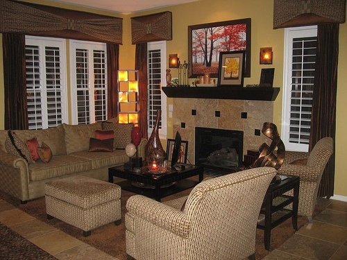 Small coffee table and ottoman placement living dining - Living dining room furniture arrangement ...