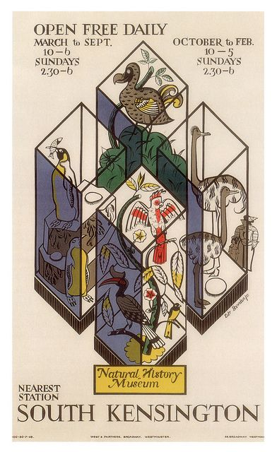 Edward Bawden – Natural History Museum (1925)