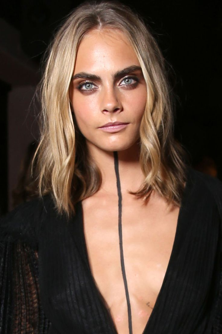 Bob Hairstyles: This Season's Coolest Celeb Cut - Cara Delevingne Lob 0 from InStyle.com