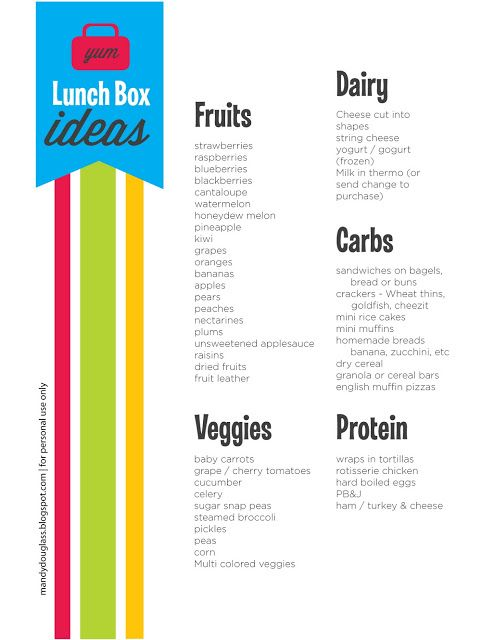 it will change your life: Making Home Packed School Lunches Special! - What to put in school lunches?? Free printable to put on the fridge
