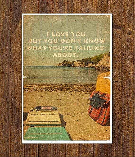 Moonrise Kingdom - Wes Anderson Movie Poster - Vintage Style Magazine Retro Print Cinema Studio Watercolor Background - A3 11.7 x 16.5 in