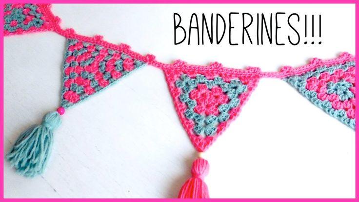 Guirnalda de Banderines (triángulos) a CROCHET PASO A PASO