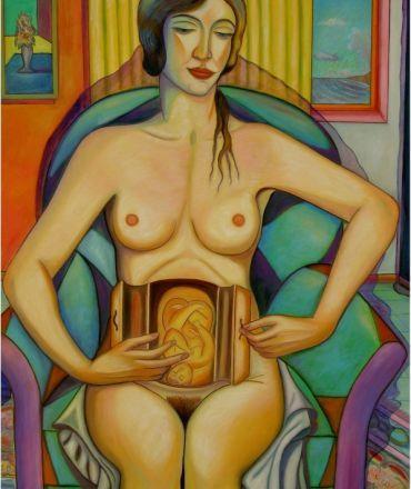 """PASQUALE VINCIGUERRA """"Il ciclo della vita"""" - painting - oil on canvas"""