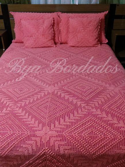 ミヽ◕‿◕ノ彡 Colchas de Cama em Crochê Goiaba Quadrada -  /   ミヽ◕‿◕ノ彡 Bedspreads of Bed Crocheted Guava Square -