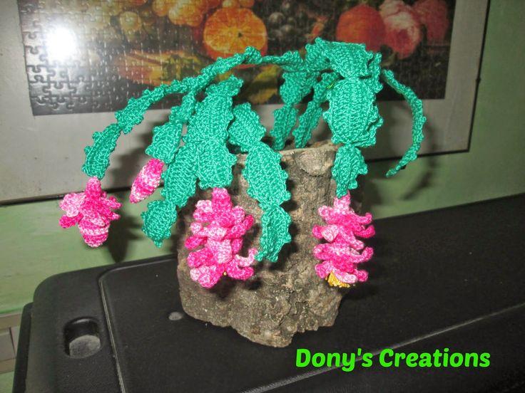 Dony's Creations by Donatella Saralli : Cactus di Natale _ pattern free italiano