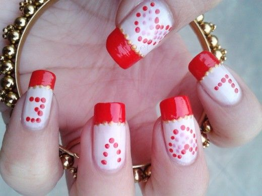 Valentine's Day is one of the special day in every lover's life. So, why not dress up your nails with a cute nail art too...! Here I have shared some easy to do nail art ideas for Valentine's Day.
