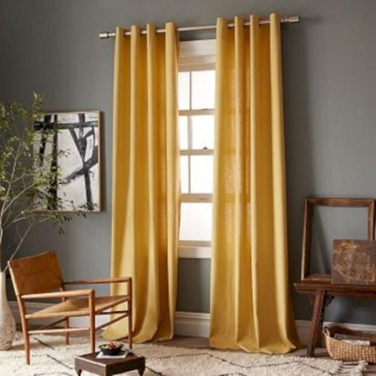 Living Room Curtains For Grey Walls, What Colour Walls Go With Mustard Curtains