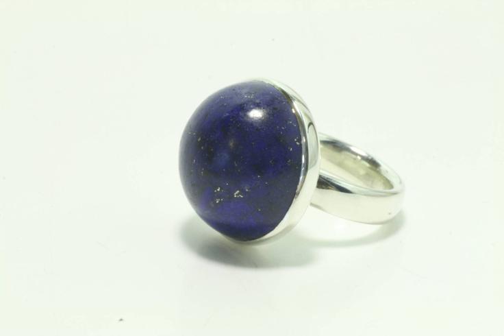 Lapis & Sterling Silver 'Dome' Ring  www.jeremyleeming.com