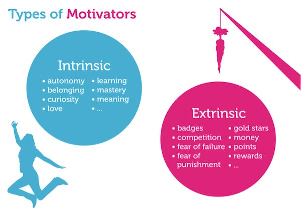 Intrinsic vs. Extrinsic Motivators // Five Steps to Enterprise Gamification | UX Magazine