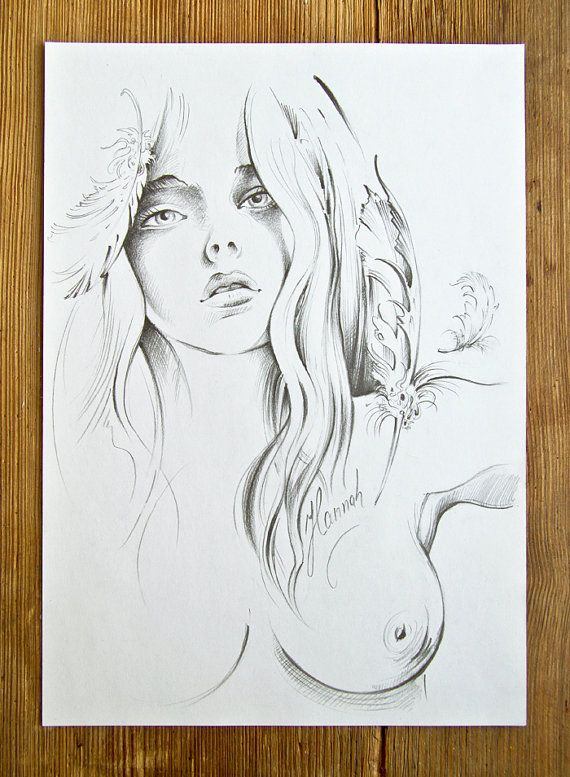 """Return of the Angel"" - pencil drawing by Anna Miarczynska"