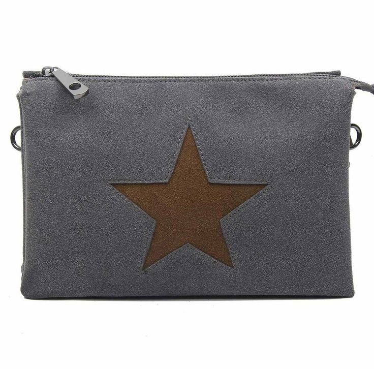 Photo of [Werbung]  WOMEN 3xFACH STAR CLUTCH BAG Shoulder Bag Leather Optic Shoulder Bag …