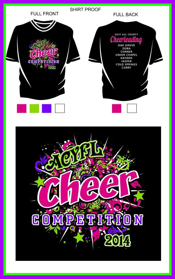 Cheer shirt design ideas Cheerleading t shirt designs