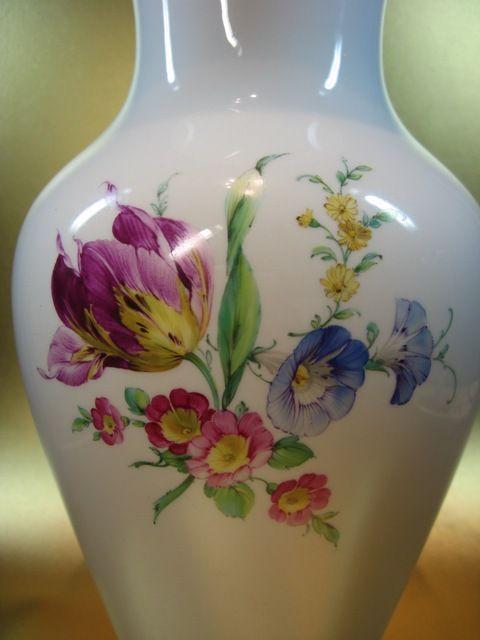 KPM Berlin große Baluster Vase 28 cm Blumenbuket gold - 1.Wahl Szepter Reichs. | eBay