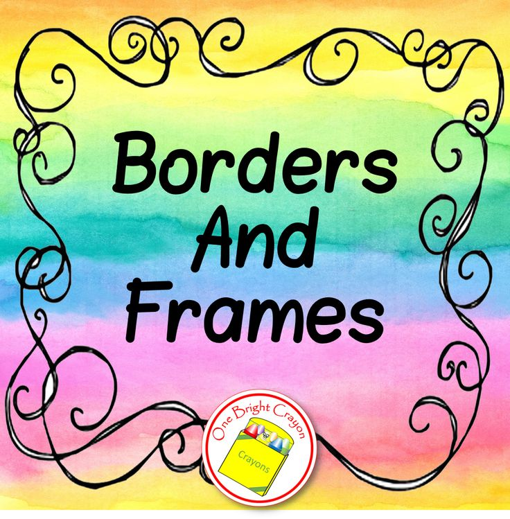 34 best Borders and Frames images on Pinterest | Borders ...