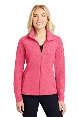 Port Authority L235 Ladies Heather Microfleece Full-Zip Jackets 11
