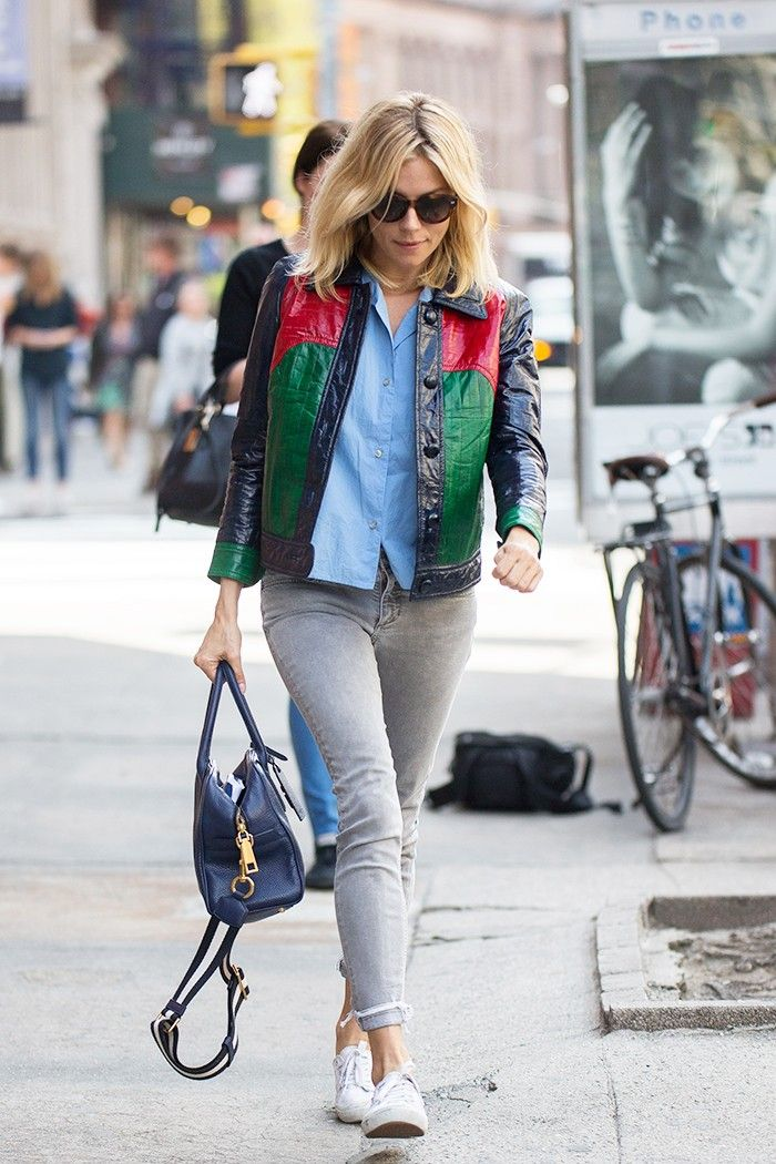 We All Should Wear Our Sneakers the Way Sienna Miller Did via @WhoWhatWear