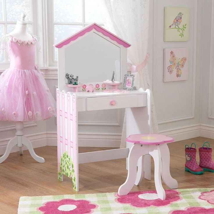 Details About Kidkraft Girls Kids Pink White Dollhouse