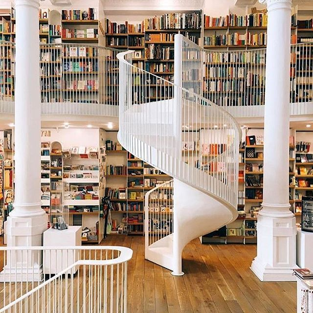 Everything about this photo that @mihailonaca took at @cntraveler is  #staircase #books #library #design