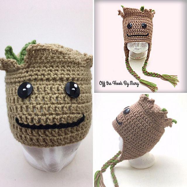 Crochet Potted Baby Groot Free Patterns | Crochet flower patterns ... | 640x640