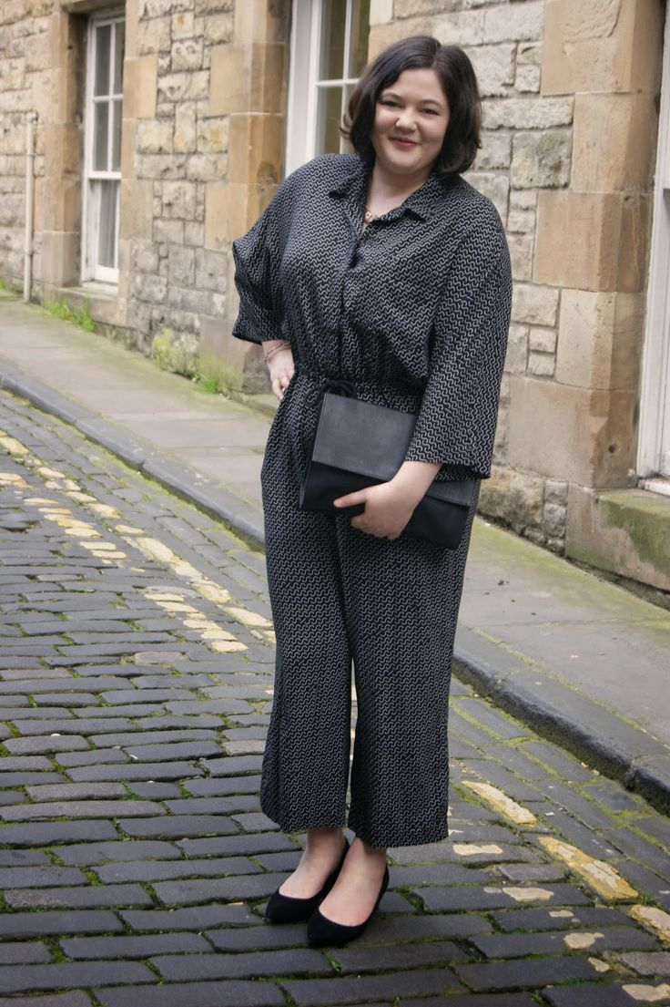 Monki jumpsuit and clutch with Marks & Spencer heels