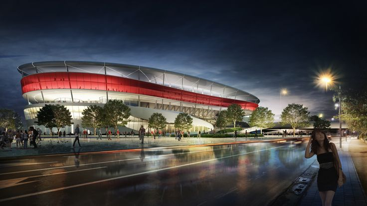 The new Eurostadium for the EUFA Cup 2020 in Brussels by Jaspers-Eyers & Ghelamco