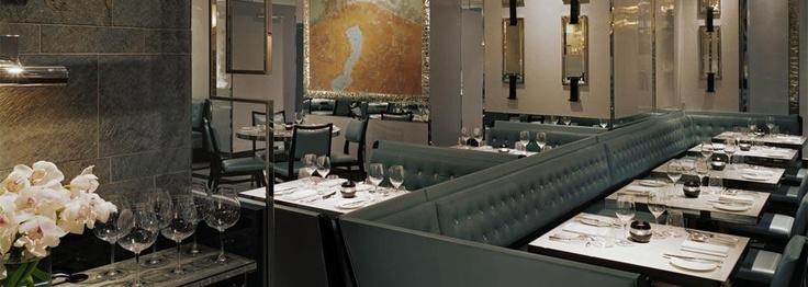 David Collins, Gordon Ramsay restaurant - hate his food, but love the design & atmosphere