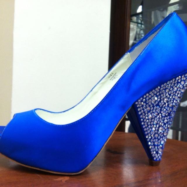 My wedding shoes ... Benjamin Adams horizon blue :)   Wedding ...