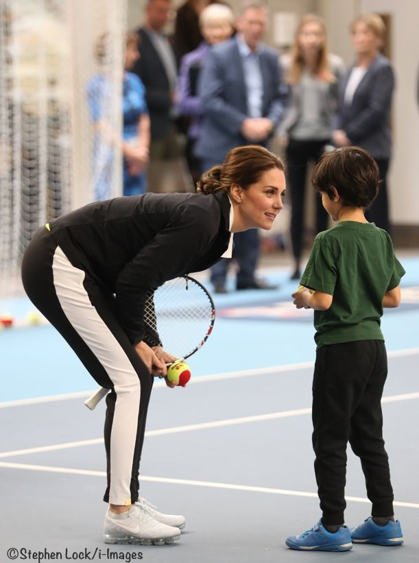 Kate returned to solo engagements today with a visit to the Lawn Tennis Association. The Duchess's new private secretary, Catherine Quinn, accompanied her. They were at the National Tennis Centre in Roehampton. Kate took over as patron of the organization last December; it is one of the patronages the Queen formerly held. The Duchess met …