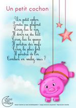 Paroles_Un petit cochon pendu au plafond