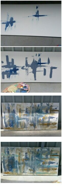 Painting on canvas in the sun