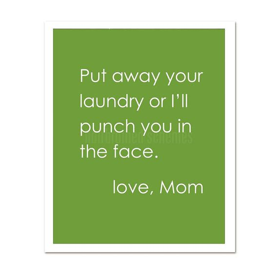 Put Away Your Laundry