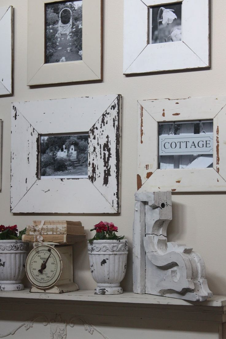 weathered frames - vintage scale - architectural piece - old books -  does it get any better?