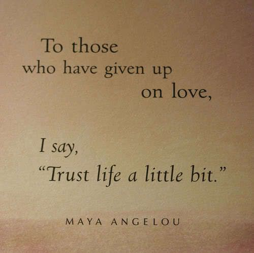 Don't your experience with a narcissist make you fear falling in love again?