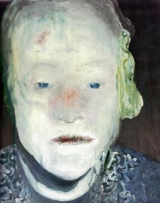 Marlene Dumas: The White Disease (1985) oil on canvas