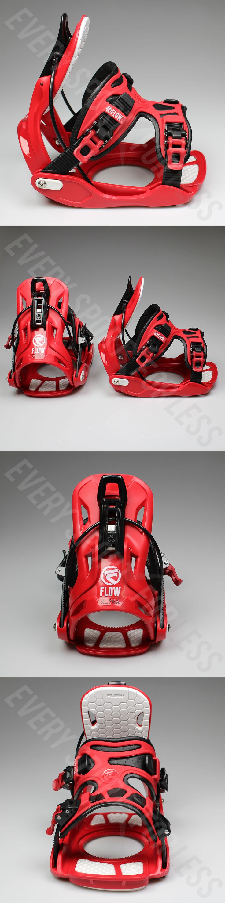 Bindings 21248: New Flow Alpha Exo-Fit Snowboard Bindings - Red -> BUY IT NOW ONLY: $159.99 on eBay!