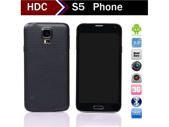 HDC Galaxys S5 G900H - 5.1 Inch HD IPS Screen MTK6592 Octa Core 1.7GHz 2GB Ram Finger Scanner Android 4.4.2 Smartphone