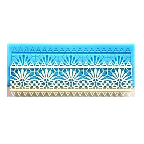 AllforhomeTM Sugarcraft Cake Decoration tool rectangle European lace Border Icing Silicone Mold Mould Lace fondant Shaped Cupcake Mat *** You can find more details by visiting the image link.