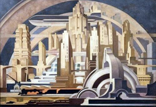 Beautiful lines and textures - Futurist painting