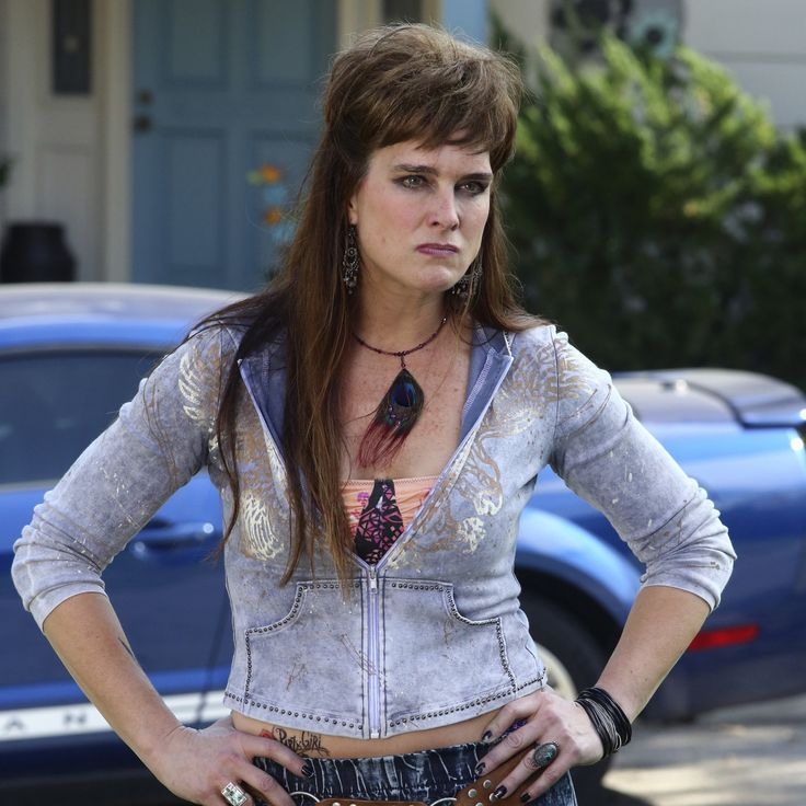 Brooke Shields as Rita Glossner on The Middle...the mullet. She's hilarious in this role!