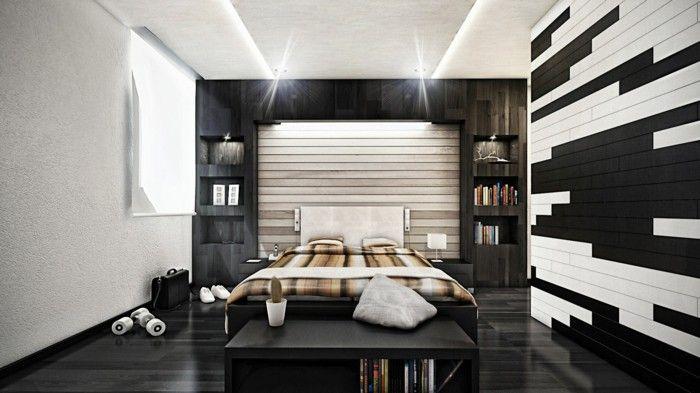 living-ideas-bedroom-black-soil-beautiful-wall-decoration.jpg (700×393)