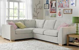 Blanche Right Hand Facing 2 Seater Corner Sofa Sherbet