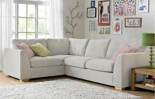 Blanche Right Hand Facing 2 Seater Corner Sofa Sherbet