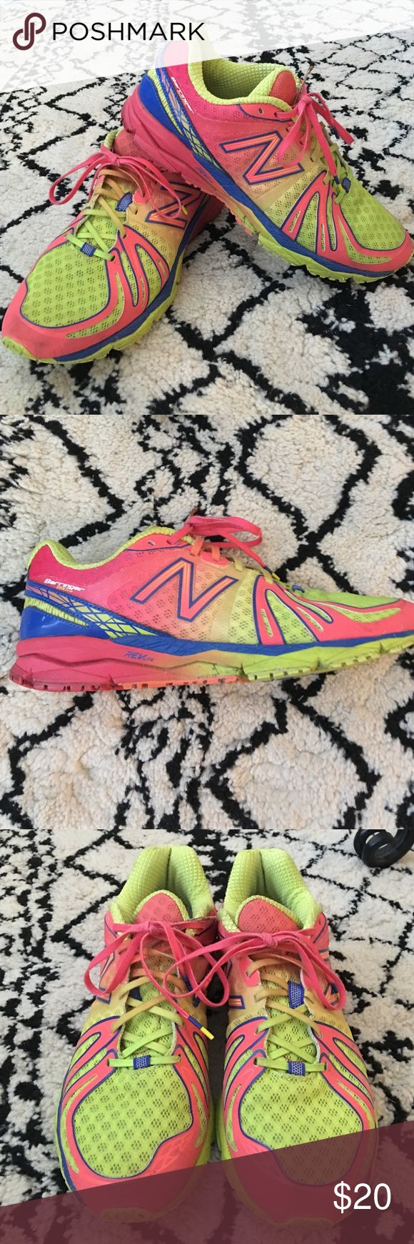 New Balance Barringer 890 Running Shoes Size 8.5 New Balance Barringer 890 running shoes. Good condition. Pink/yellow/blue New Balance Shoes Athletic Shoes