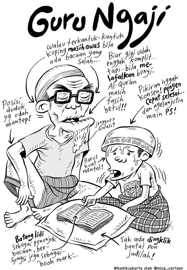Mice Cartoon, Komik Jakarta - November 2014: Guru Ngaji