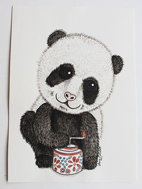 Print Panda 21x30 cm