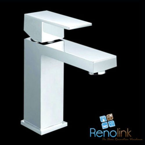 BATHROOM WASH BASIN MIXER SQUARE SPOUT HANDLE VANITY TAP CHROME PSS2004SB in Home & Garden, Building Materials & DIY, Plumbing & Fixtures | eBay